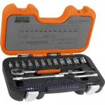 Bahco S160 Socket Set 16-Piece 1/4-Inch Drive