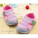 รองเท้าเด็ก รองเท้าผ้าใบเด็ก รองเท้าเด็กวัยหัดเดิน รองเท้าเด็กเล็ก Sport B สไตล์นักกีฬา พื้นยางกันลื่น Baby Shoes 1-4 ขวบ