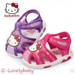 Hello Kitty ของแท้ รองเท้าเด็กผู้หญิง รองเท้าเด็ก รองเท้าเด็กเล็ก รองเท้าแตะเด็ก ขนาดสำหรับอายุ 2-3 ขวบ