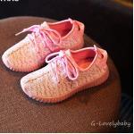 รองเท้าเด็ก รองเท้าผ้าใบเด็ก รองเท้าเด็กเล็ก สไตล์นักกีฬา พื้นยางกันลื่น Baby Shoes 3-6 ขวบ