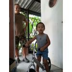 รุ่น Aluminum จักรยานฝึกหัดการทรงตัว อลูมิเนียม BKK (Bikinki) Brave Balance  จักรยานขาไถ  ที่ดีที่สุดสำหรับเด็ก 18เดือน- 5 ขวบ เพื่อให้หัด ทรงตัวได้เร็วขึ้น รุ่น อลูมิเนียม ราคา 3900 บาท หนัก 1.9 kg