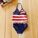 ชุดว่ายน้ำเด็ก 2 pieces ชุดว่ายน้ำเด็กหญิง ชุดว่ายน้ำหนูน้อย ชุดว่ายน้ำเด็กเล็ก สีสดใสน่ารักมาก แบรนด์เนม Faded Glory Size 18M(12-18เดือน) , Size 3T (2-3ขวบ)