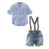 (พร้อมส่ง Size 6T) ชุดเอี๊ยมกางเกงยีน+เสื้อเชิ้ต ผ้าดี สินค้าขายดีคะ
