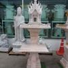 ศาลพระภูมิทรงปราสาทสีขาว  ขนาด ฐานกว้าง81ซม ยาว81ซม สูง 210 เซนติเมตร