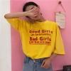 [Preorder] เสื้อยืดแนวสตรีทสีเหลือง Good Girls Bad Girls