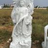 ภาพเจ้าแม่กวนอิม แกะสลักหินอ่อน 200เซนติเมตร