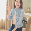 เสื้อผ้าแฟชั่นนำเข้า :เสื้อแจ็กเก็ตยีนส์ สไตล์เกาหลี หัวไหล่พองๆ นิดๆ น่ารักๆ