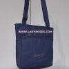 กระเป๋าสะพาย นารายา ผ้าเดนิม ทรงสี่เหลี่ยม สียีนส์น้ำเงินเข้ม มีโลโก้นารายาด้านหน้า (กระเป๋านารายา กระเป๋าผ้า NaRaYa กระเป๋าแฟชั่น) สำเนา