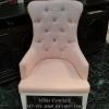 เก้าอี้โอบข้าง ดึงกระดุมคริสตัล