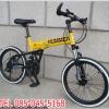 รถจักรยานพับได้ฮัมเมอร์เอ็กซ์ HUMMER X Folding Bike 21-Speed คันเล็ก ล้อ20นิ้ว (สีเหลือง)