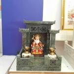 ศาลเจ้าที่จีน 27 นิ้ว 3 หลังคา (หินเขียวอิตาลี)