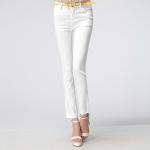 Pre-Order กางเกงทำงานผู้หญิง กางเกงลำลอง ทรงดินสอ สีขาว
