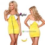 ชุดแฟนซี ชุดคอสเพลย์ ชุดCosplay เดรสน่ารัก = ชุดผลไม้ Mix fruit ชุดกล้วย Banana =