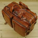 Pre-Order กระเป๋าเดินทาง กระเป๋าธุรกิจ กระเป๋าสะพาย กระเป๋าหิ้ว หนังแท้ สไตล์ย้อนยุค (Retro) สีน้ำตาลแดงผิวมัน
