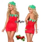 ชุดแฟนซี ชุดคอสเพลย์ ชุดCosplay เดรสน่ารัก = ชุดผลไม้ Mix fruit ชุดสตรอว์เบอร์รี่ Strawberry =