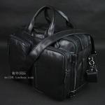 Pre-Order กระเป๋าเดินทาง กระเป๋าธุรกิจ กระเป๋าสะพาย กระเป๋าหิ้ว หนังแท้ สไตล์ย้อนยุค (Retro) สีดำผิวมัน