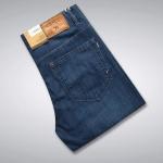 Pre-Order กางเกงยีนส์ ขายาว ขาตรง สีบลูยีนส์ ยีนส์ฟอก แฟชั่นกางเกงยีนส์