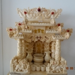 ศาลเจ้าที่ขนาด 18 นิ้ว 888 4 เสา 5หลังคา หินอ่อนหยก น้ำผึ้ง ทราย