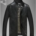 Pre-Order เสื้อแจ็คเก็ตหนังแท้ ผิวกำมะหยี่ สีดำ