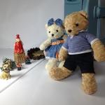 ตุ๊กตาหมีคู่ ใส่ชุดยีนส์( 2) size M