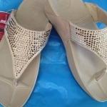 รองเท้า Fitflob Flare  เพชรกระจาย 2 สี สีครีม No.FF019