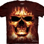 Pre.เสื้อยืดพิมพ์ลาย3D The Mountain T-shirt : Skulfire