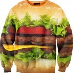 Pre-Order เสื้อยืดพิมพ์ลาย MR.GUGU & Miss GO : Hamburger sweater