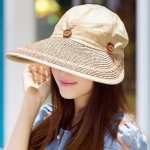 Pre-order หมวกแฟชั่น หมวกแก็ปปีกกว้าง หมวกฤดูร้อน กันแดด กันแสงยูวี สีกาแฟ