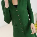 (Pre-Order) เสื้อไหมพรมถักจากผ้าขนสัตว์แคชเมียร์ แฟชั่นเสื้อสไตล์เกาหลี สีเขียว