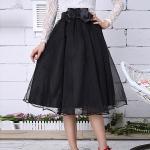 พรีออเดอร์ กระโปรง tutu ผู้ใหญ่ กระโปรงยาว กระโปรงบาน กระโปรง Princess tutu skirt ผ้าชีฟองชั้นเดียวสีดำ กระโปรงออกงาน