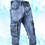 (Pre-Order) กางเกงขาสั้น กางเกงขาสามส่วน กางเกงลำลอง สีบูลยีนส์ำ หินขัดสีขาว กางเกงหนุ่มมาดเข้ม หนุ่มมาดแมน แฟชั่นเกาหลี