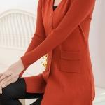 (Pre-Order) เสื้อไหมพรมถักจากผ้าขนสัตว์แคชเมียร์ แฟชั่นเสื้อสไตล์เกาหลี สีส้ม
