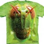 Pre.เสื้อยืดพิมพ์ลาย3D The Mountain T-shirt : Grasshopper Face