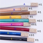 Pre-Order เข็มขัดผู้หญิง เข็มขัดแฟชั่นมาใหม่ เข็มขัดหนังแท้ เส้นเล็ก สีลูกกวาด หัวเข็มขัดหัวคู่ประดับมุกขอบอลูมิเนียมชุบทอง