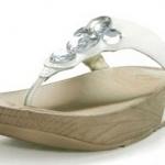 รองเท้า Fitflob Lucia White เพชร 5 เม็ด สีขาว No.FF069