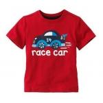 M01179_เสื้อยืดสีแดงลาย Race Car