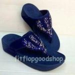 รองเท้า Fitflop Rockchic เพชรเม็ดเล็ก รุ่นใหม่ สีน้ำเงิน No.FF365