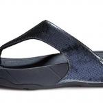รองเท้า Fitflob Electra  ปักเลื่อมเกรดปลา  สีน้ำเิงิน No.FF016