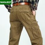 Pre-order กางเกงขายาว กางเกงธุรกิจ แฟชั่นสไตล์อเมริกันคลาสสิก หนุ่มมาดเท่ ขาลุย สีกากีเข้ม NIAN Jeep