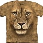 Pre.เสื้อยืดพิมพ์ลาย3D The Mountain T-shirt : Lion Warrior
