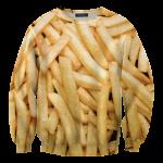 เสื้อยืดพิมพ์ลาย MR.GUGU & Miss GO : Fries Sweater