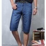 Pre-order กางเกงยีนส์ขาสั้น กางเกงลำลองฤดูร้อน แฟชั่นกางเกงขาสั้นสำหรับหนุ่ม ๆ สีบลูยีนส์
