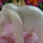 ช้างหินอ่อน ขนาด กว้าง 20 สูง 12 เซนติเมตร 1ตัว