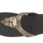 รองเท้า Fitflob Lunetta Bronze เพชร 4 เม็ด สีน้ำตาลทอง No.FF076