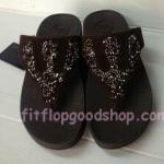 รองเท้า Fitflop Rockchic เพชรเม็ดเล็ก รุ่นใหม่ สีน้ำตาล No.FF366