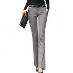 (Pre-Order)กางเกงผู้หญิงทำงาน กางเกงขายาวทรงขาตรง ผ้าฝ้ายผสม บางเบา กระเป๋าข้างพับและขลิบขอบ แฟชั่นกางเกงสไตล์เกาหลี