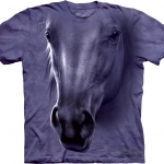 Pre.เสื้อยืดพิมพ์ลาย3D The Mountain T-shirt : Horse Head