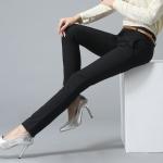 Pre-Order กางทำงานผู้หญิง กางเกงสแล็ค ขาตรง สีดำ