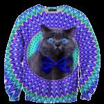 เสื้อยืดพิมพ์ลาย MR.GUGU & Miss GO : Crazy cat sweater
