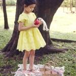 ชุดราตรีเด็ก ชุดออกงานเด็ก Phelfish ชุดออกงานเด็กสีเหลือง